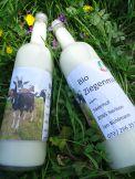 Ziegenmilch BIO frisch, pasteurisiert  Flasche à 5dl = Fr.  3.50